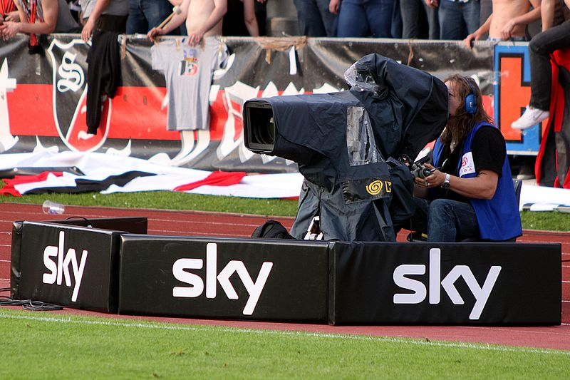 Can television companies such as Sky maintain paying exuberant amounts for the EPL? Image by Steindy
