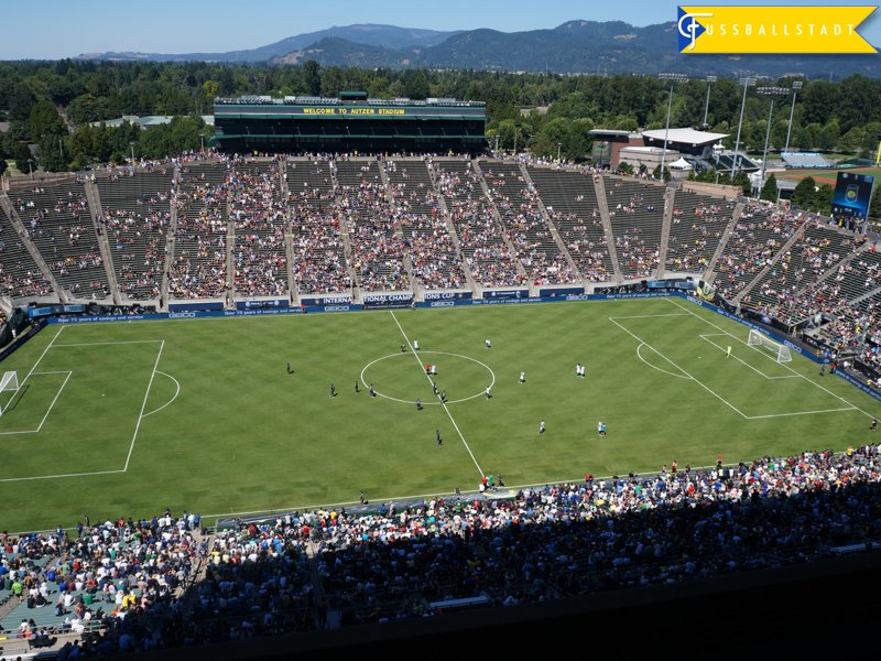 The Autzen Stadium might have been to big of a venue for the International Champions Cup