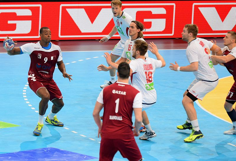 The Qatari national handball team had several naturalised players in their squad at the 2015 World Cup - Image by Wenflou