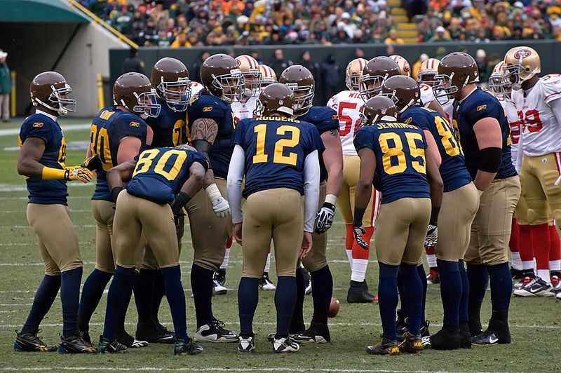 The Green Bay Packers, here in their historical uniform, are the only community owned club in the NFL - Image by Mike Morbeck     CC-BY-SA-2.0