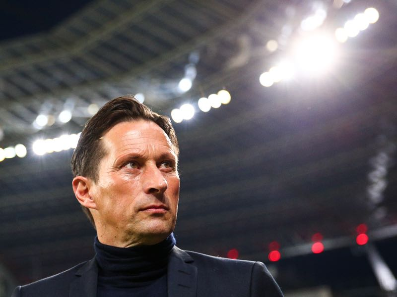 Roger Schmidt head coach of Leverkusen arrives prior the Bundesliga match between Bayer 04 Leverkusen and Borussia Moenchengladbach at BayArena on January 28, 2017 in Leverkusen, Germany. (Photo by Maja Hitij/Bongarts/Getty Images)