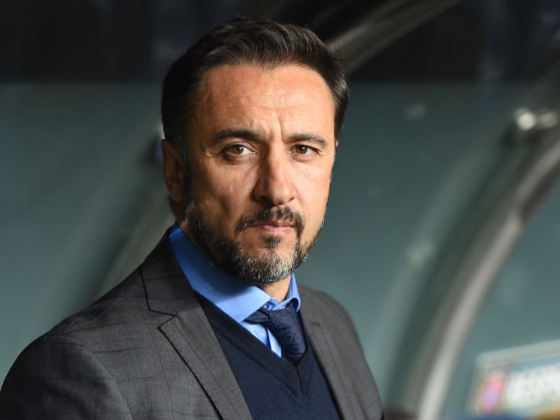 Vítor Pereira will have to find a system that gets the best out of Christian Gytkjaer. (Photo byOZAN KOSE/AFP/Getty Images)