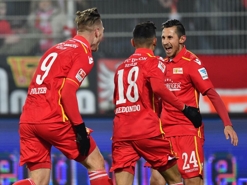 There has been a lot to celebrate for Union Berlin in the promotion race. (Photo by Stuart Franklin/Bongarts/Getty Images)