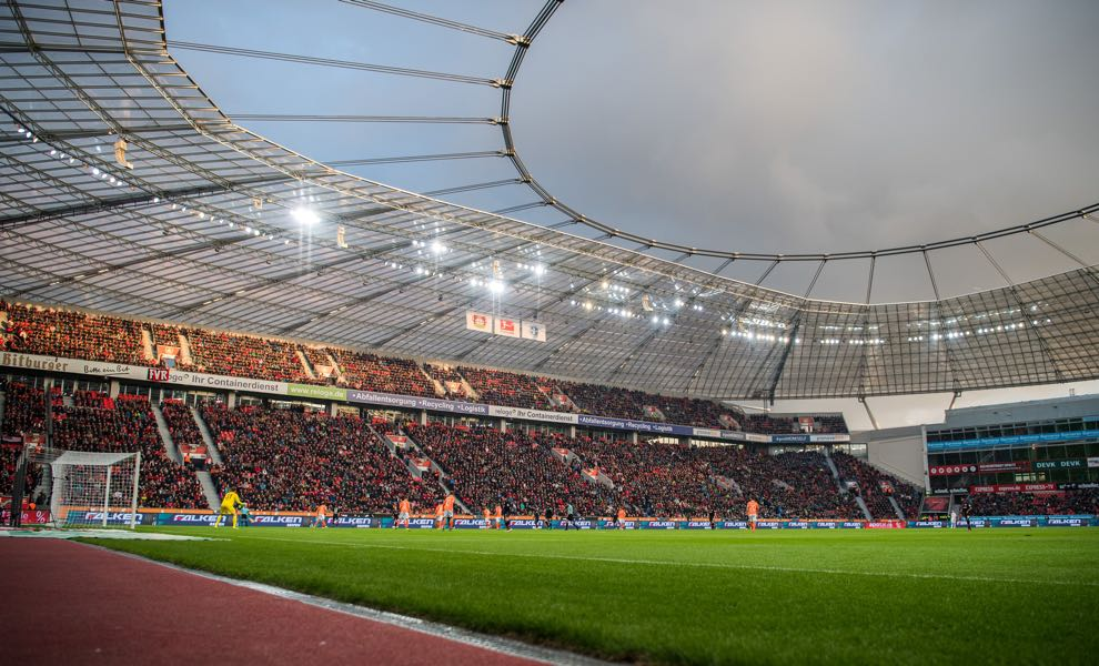Bayer Leverkusen vs Bayern will take place in the BayArena in Leverkusen. (Photo by Lukas Schulze/Bongarts/Getty Images)