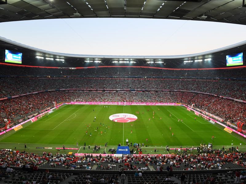 Bayern vs Arsenal will take place at the Allianz Arena in Munich on Wednesday (Photo by Lennart Preiss/Bongarts/Getty Images)