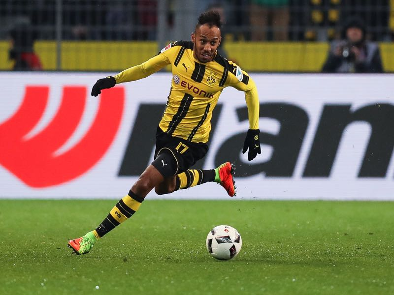 Pierre-Emerick Aubameyang will challenge for the goal-scoring title this season. (Photo by Maja Hitij/Bongarts/Getty Images)