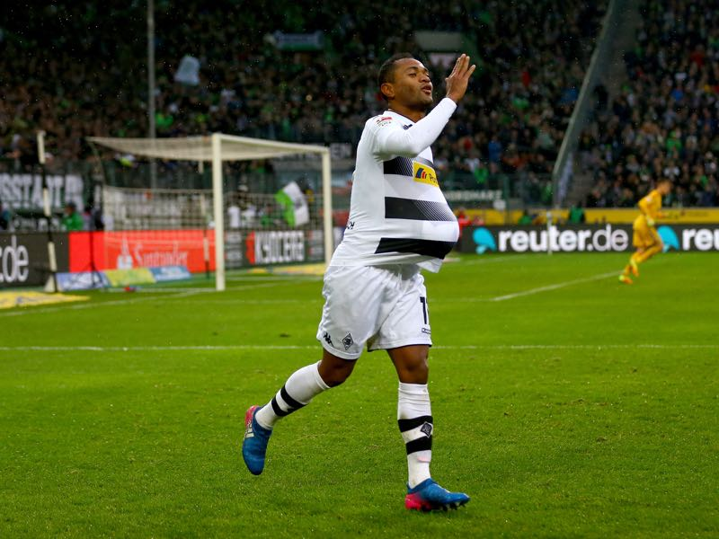 Raffael will be Gladbach's key player on Saturday. (Photo by Christof Koepsel/Bongarts/Getty Images)
