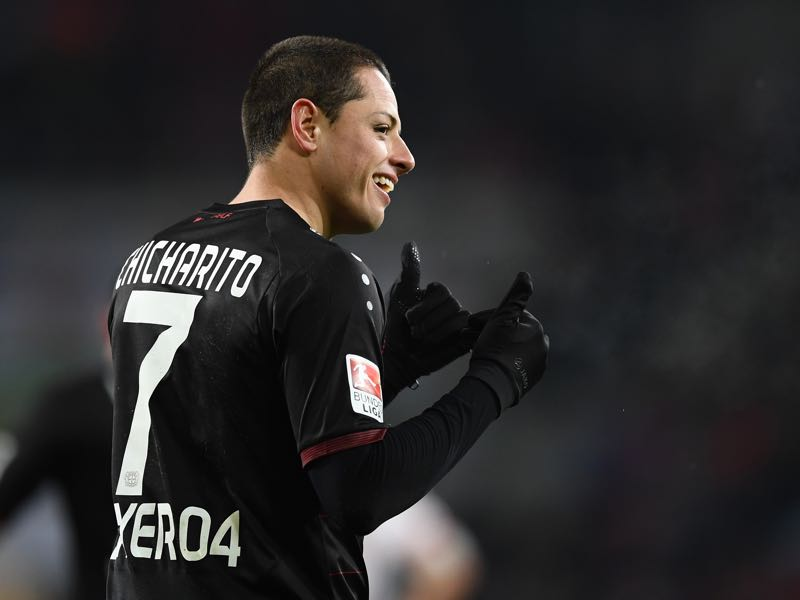 Chicharito has rediscovered his form in recent weeks. (Photo by Matthias Hangst/Bongarts/Getty Images)