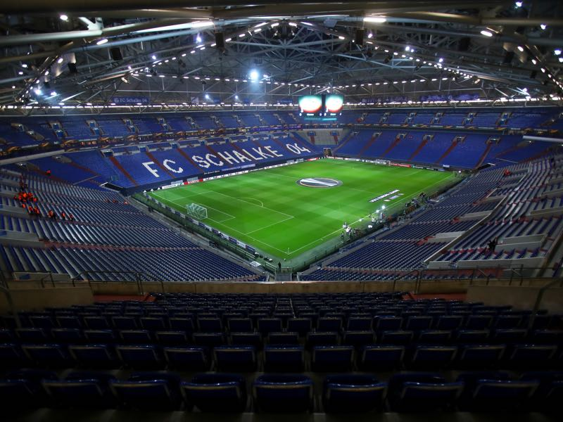 Schalke vs Wolfsburg will take place in the Veltins-Arena. (Photo by Alex Grimm/Bongarts/Getty Images)