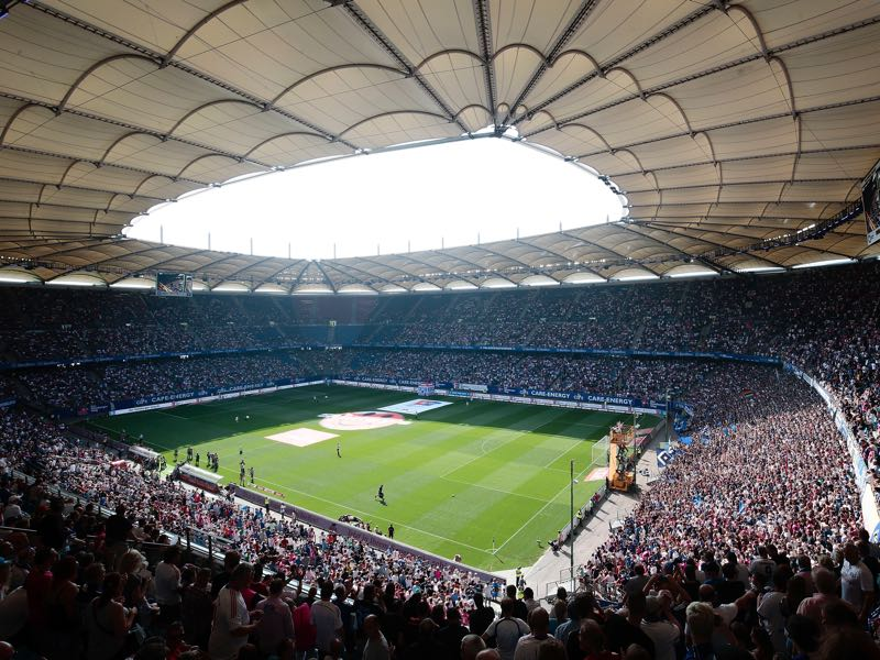 Hamburg vs Dortmund will take place at the Volksparkstadion in Hamburg. (Photo by Oliver Hardt/Bongarts/Getty Images)