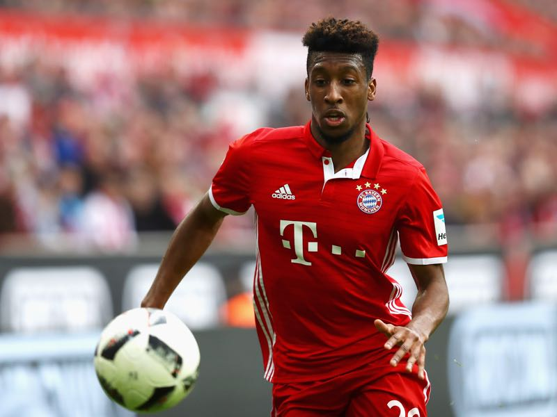 Kingsley Coman has only seen sporadic playing time this season. (Photo by Dean Mouhtaropoulos/Bongarts/Getty Images)