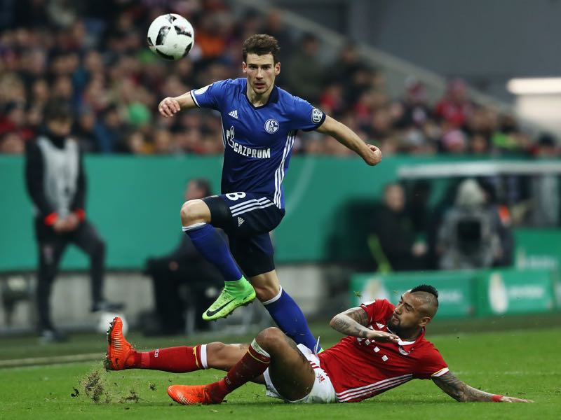 Leon Goretzka is facing his future club on Saturday. (Photo by Alexander Hassenstein/Bongarts/Getty Images)