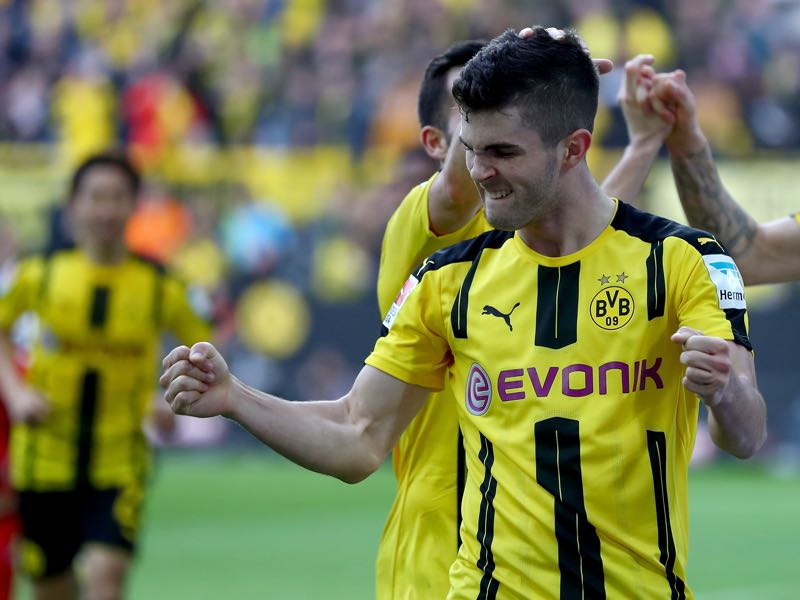 Borussia Dortmund's Christian Pulisic is our player to watch. (Photo by Lars Baron/Bongarts/Getty Images)