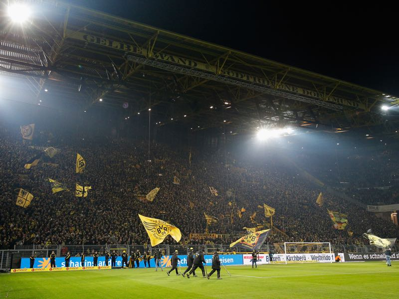 Borussia Dortmund vs Schalke will take place at the SIGNAL IDUNA PARK in Dortmund. (Photo by Dean Mouhtaropoulos/Bongarts/Getty Images)