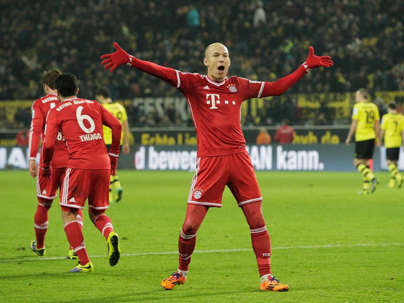 Arjen Robben's goal won the Champions League for Bayern München in 2013. (Photo by Adam Pretty/Bongarts/Getty Images)