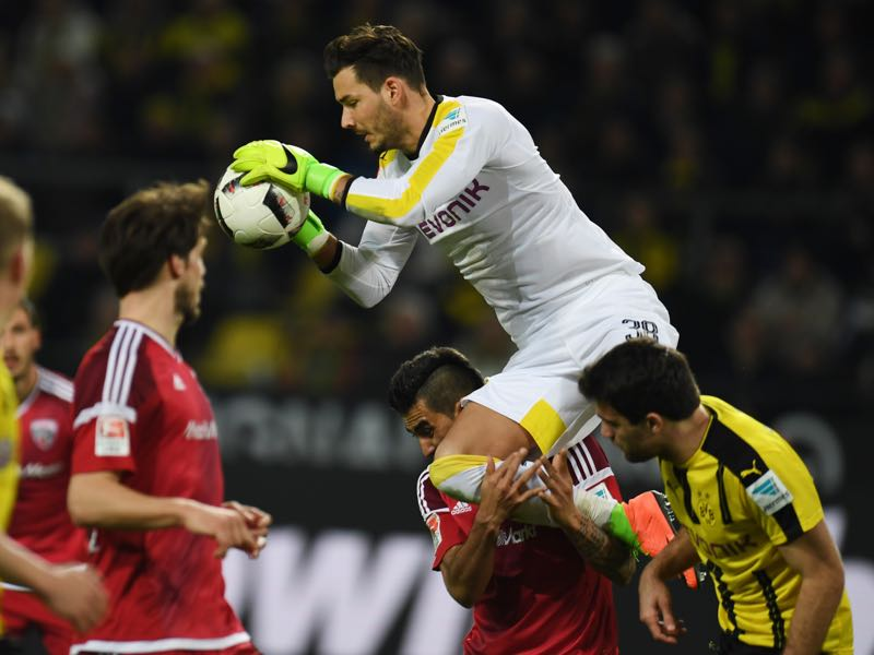 Roman Bürki has been omnipresent for Borussia Dortmund this season. (PATRIK STOLLARZ/AFP/Getty Images)