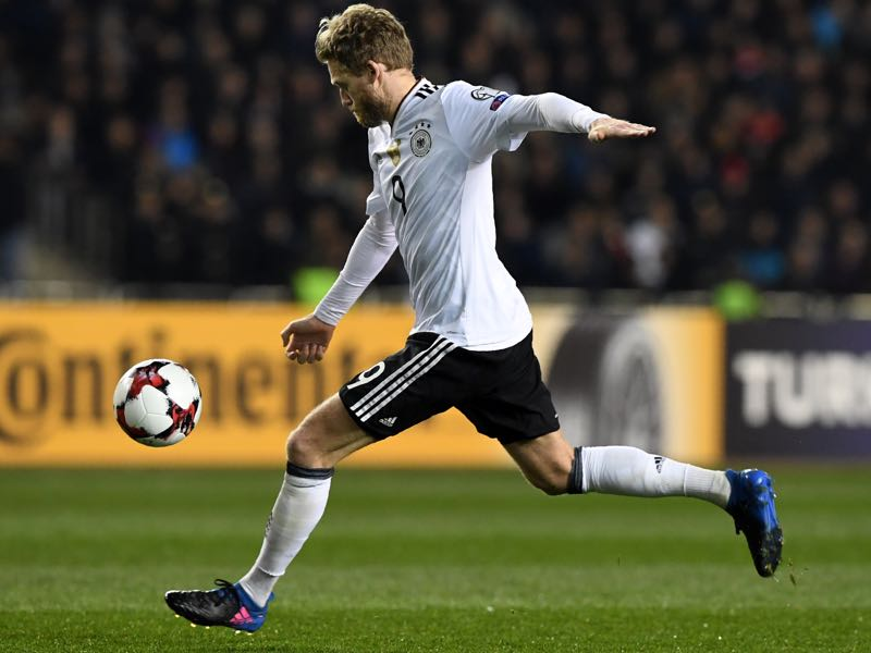 André Schürrle scored twice in Germany's 4-1 victory over Azerbaijan on Sunday. (KIRILL KUDRYAVTSEV/AFP/Getty Images)