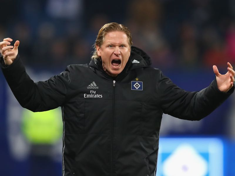 Markus Gisdol is on course to collect 40-points with his club Hamburger SV (Photo by Martin Rose/Bongarts/Getty Images)