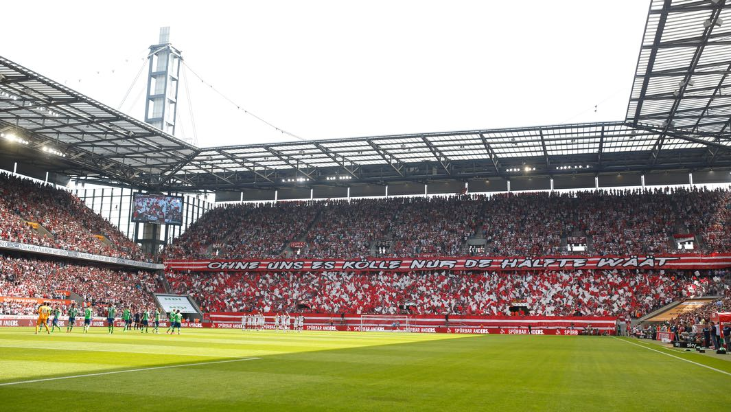 Köln vs Hertha will take place at the RheinEnergieArena in Cologne. (Photo by Mika Volkmann/Bongarts/Getty Images)