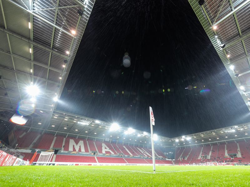 Mainz vs Frankfurt will take place at the Opel Arena in Mainz. (Photo by Simon Hofmann/Bongarts/Getty Images)