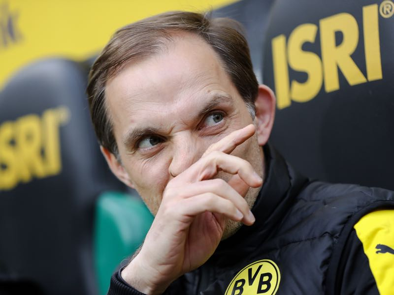 Former Borussia Dortmund head coach Thomas Tuchel is one of the possible replacements for Carlo Ancelotti. (Photo by Maja Hitij/Bongarts/Getty Images)