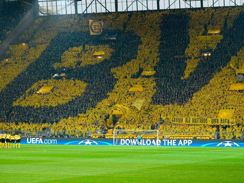 Borussia Dortmund vs Atletico Madrid will take place in the Signal Iduna Park in Dortmund. (SASCHA SCHUERMANN/AFP/Getty Images)