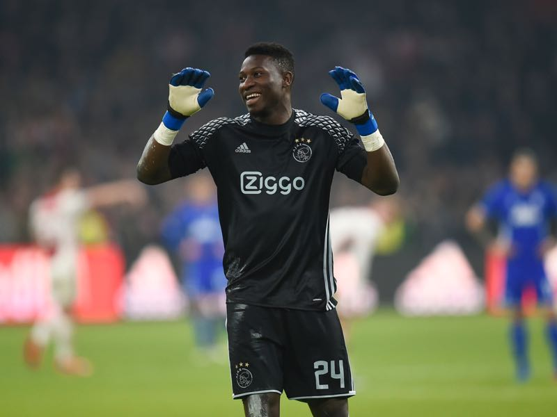 Ajax Amsterdam's goalkeeper André Onana was trained in Barcelona's Las Masia academy. (JOHN THYS/AFP/Getty Images)