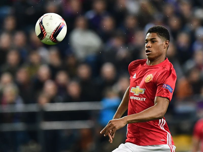 Watch out for Manchester United forward Marcus Rashford. (EMMANUEL DUNAND/AFP/Getty Images)