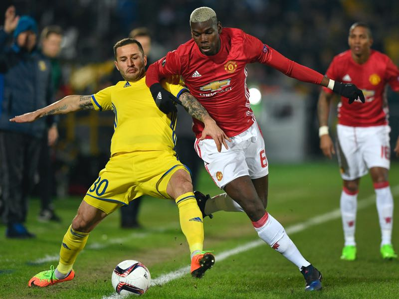 Paul Pogba is Manchester United's player to watch. (ALEXANDER NEMENOV/AFP/Getty Images)