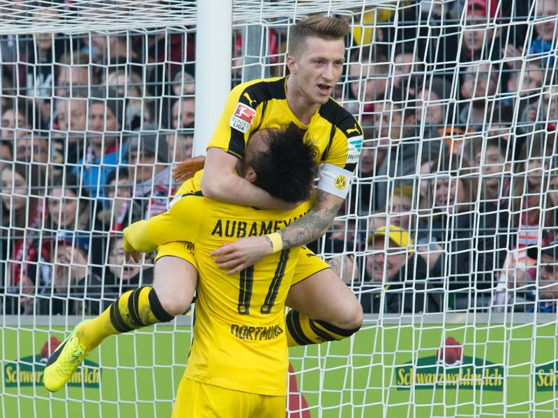 Marco Reus will likely make his comeback against Eintracht Frankfurt. (THOMAS KIENZLE/AFP/Getty Images)