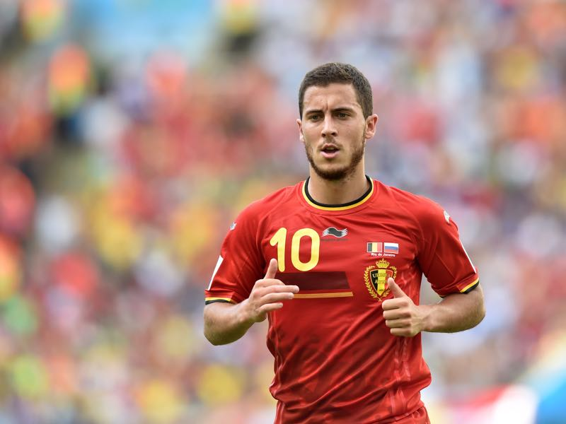 Eden Hazard, here playing for Belgium, is very much Chelsea's key player. (KIRILL KUDRYAVTSEV/AFP/Getty Images)