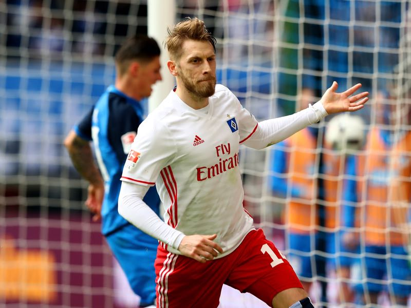 Aaron Hunt has been excellent for Hamburg in recent weeks. (Photo by Martin Rose/Bongarts/Getty Images)
