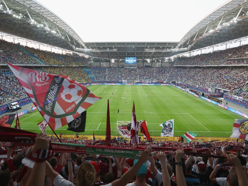 RB Leipzig vs Bayer Leverkusen will take place in the Red Bull Arena. (Photo by Alexander Hassenstein/Bongarts/Getty Images)
