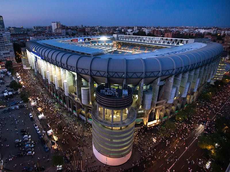 Real Madrid vs Bayern will take place at the Bernabéu Stadium in Madrid. (Photo by Gonzalo Arroyo Moreno/Getty Images)