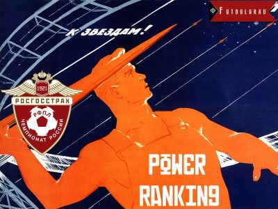 Russian Football Premier League Power Ranking – Matchday 22
