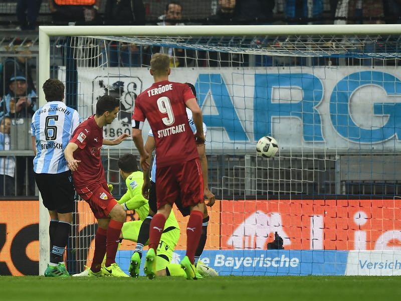 1860 München were unlucky to concede late against VfB Stuttgart. (Photo by Lennart Preiss/Bongarts/Getty Images)