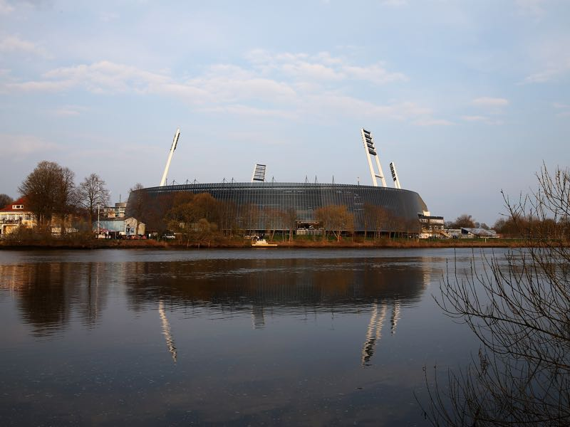 Werder vs Bayer Leverkusen will take place at the Weser-Stadion (Photo by Lars Baron/Bongarts/Getty Images)