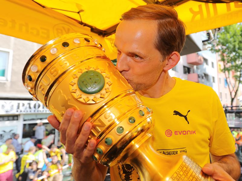 Not even winning the cup could fix the difficult relationship between the management and Tuchel. (Photo by Pool - Getty Images)