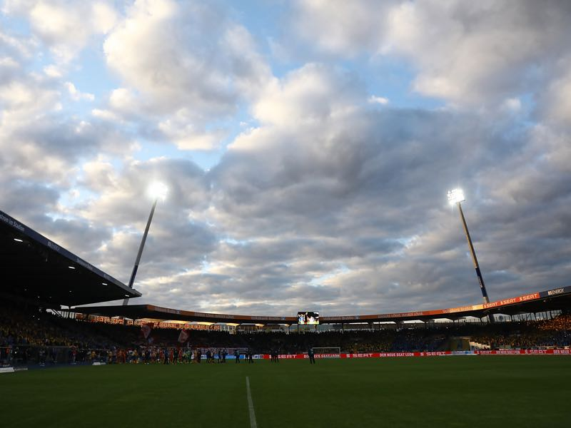 Eintracht Braunschweig vs 1860 Munich will take place at the Eintracht- Stadion. (Photo by Oliver Hardt/Bongarts/Getty Images)