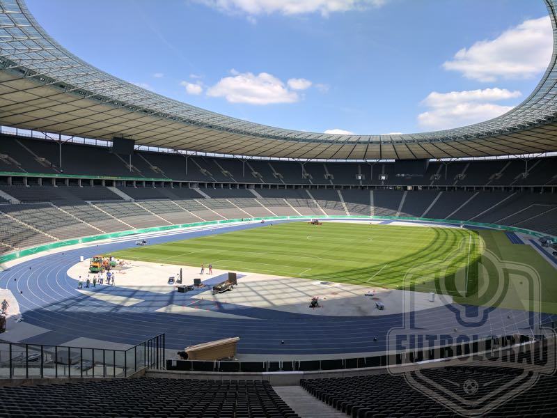 The DFB Pokal Final Bayern vs Eintracht Frankfurt will take place at the Olympiastadion in Berlin (Chris Williams/Futbolgrad Network)