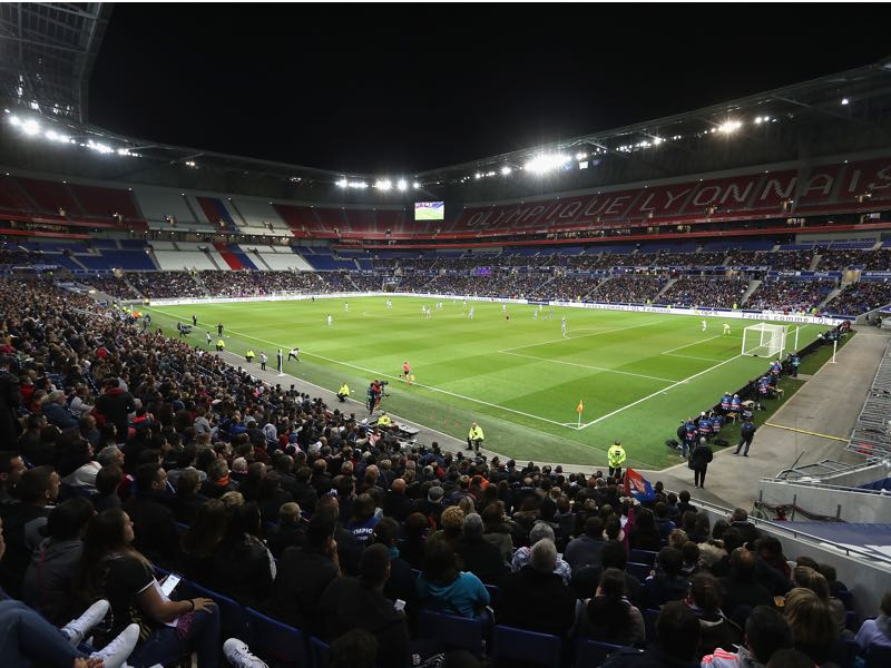 Lyon vs Barcelona will take place in the Stade de Lyon. (Photo by Christopher Lee/Getty Images)