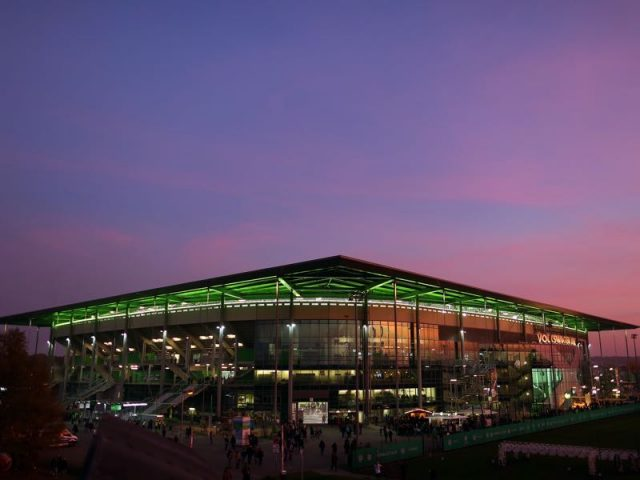 Wolfsburg vs Bayern München will take place at the Volkswagen Arena. (Photo by Ronny Hartmann/Bongarts/Getty Images)