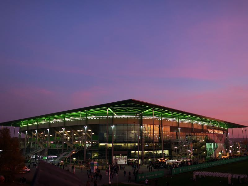 Wolfsburg vs Dortmund will take place at the Volkswagen Arena. (Photo by Ronny Hartmann/Bongarts/Getty Images)