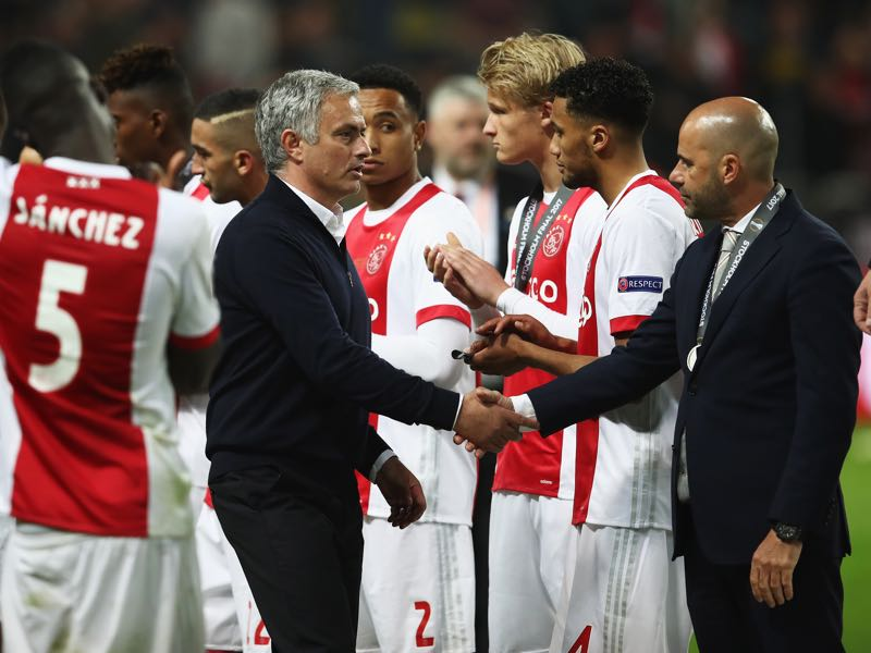 Peter Bosz forged a young Ajax side that stormed all the way to the Europa League final where they were beaten by Manchester United. (Photo by Julian Finney/Getty Images)