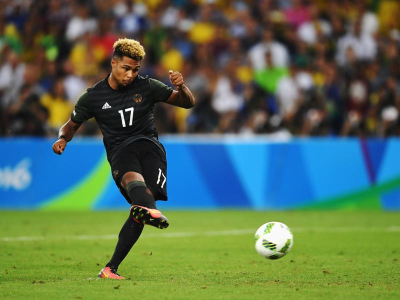 Serge Gnabry was excellent for Germany at the Olympics last summer. (Photo by Laurence Griffiths/Getty Images)