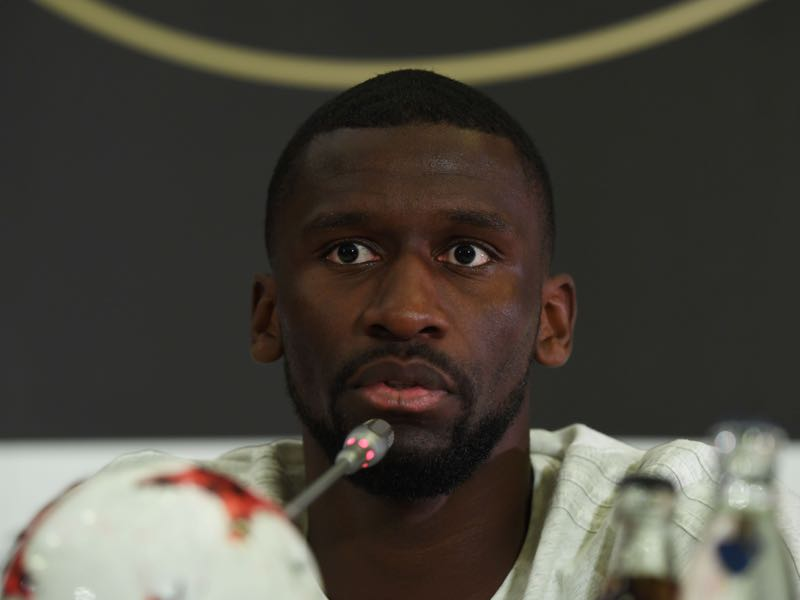 Antonio Rüdiger was outspoken against racism during Germany's press conference ahead of the Australia game. (PATRIK STOLLARZ/AFP/Getty Images)