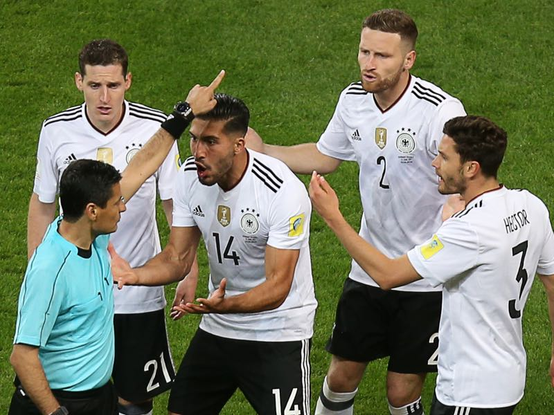 Emre Can was the aggressive leader against Chile. (ROMAN KRUCHININ/AFP/Getty Images)