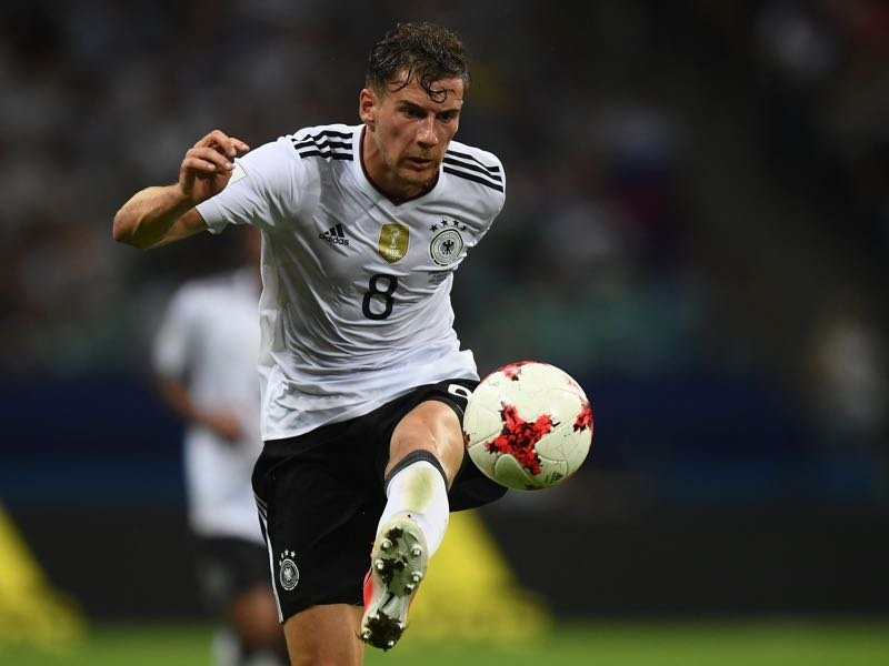 Shades of Stefan Effenberg. Leon Goretzka is a real midfield dynamo. (FRANCK FIFE/AFP/Getty Images)