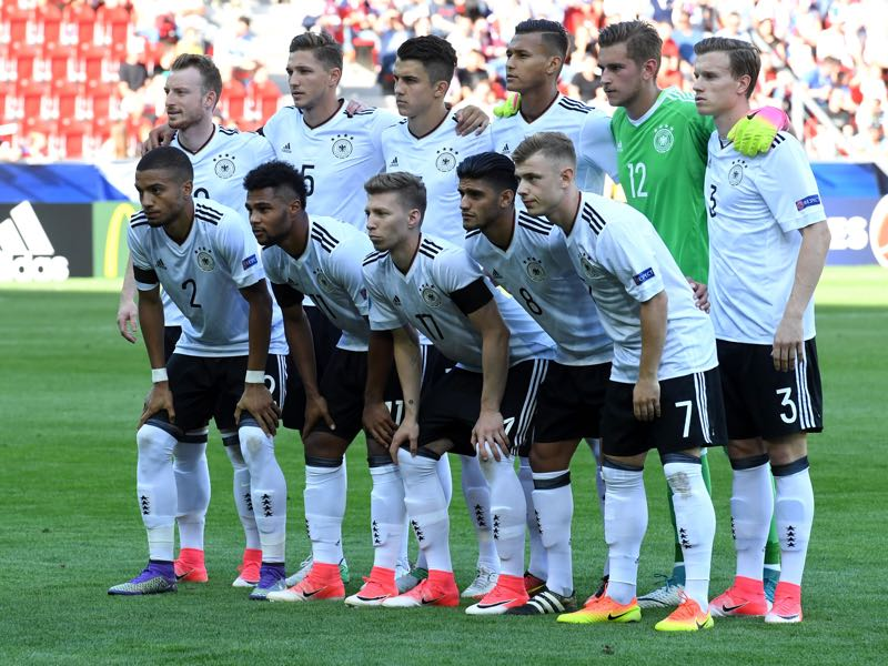 Germany got off to a perfect start at the U-21 European Championships against the Czech Republic on Sunday. (PIOTR NOWAK/AFP/Getty Images)