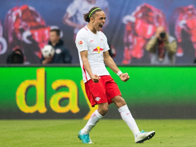 RB Leipzig Yussuf Poulsen is a typical target player. (ROBERT MICHAEL/AFP/Getty Images)